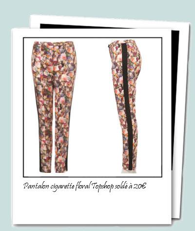 DIY pantalon fleuri Topshop