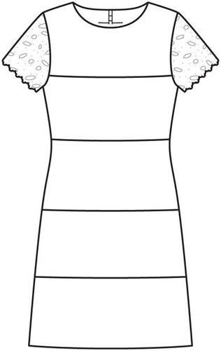 robe manches dentelle burda janv 2013