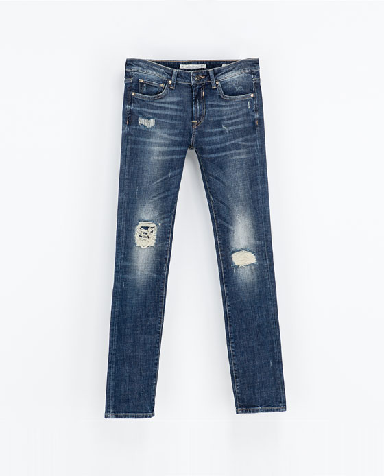 pantalon denim zara