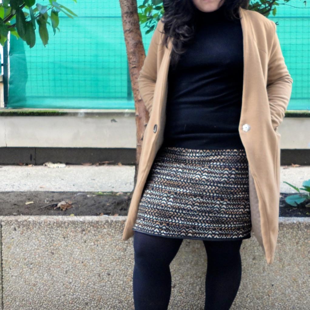 jupe en laine portée 1