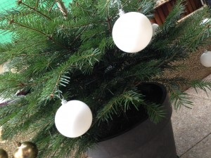 boules de noel blanches DIY
