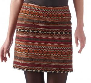 jupe tissée laine camaieu