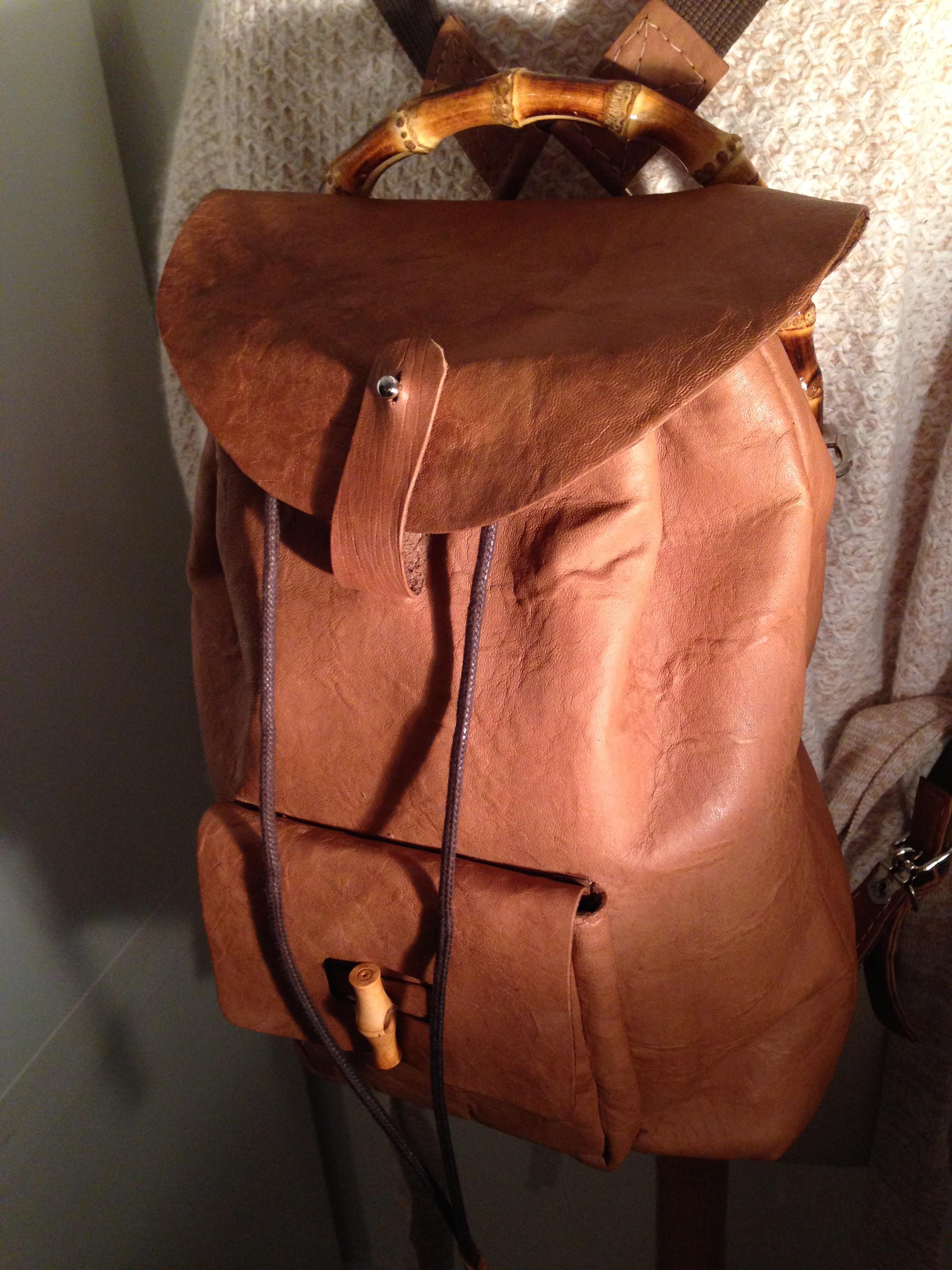 Couture coudre un sac dos en cuir lagouagouache - Patron de sac a main en cuir gratuit ...