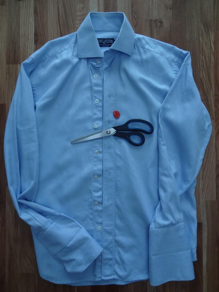 customisation chemise avant
