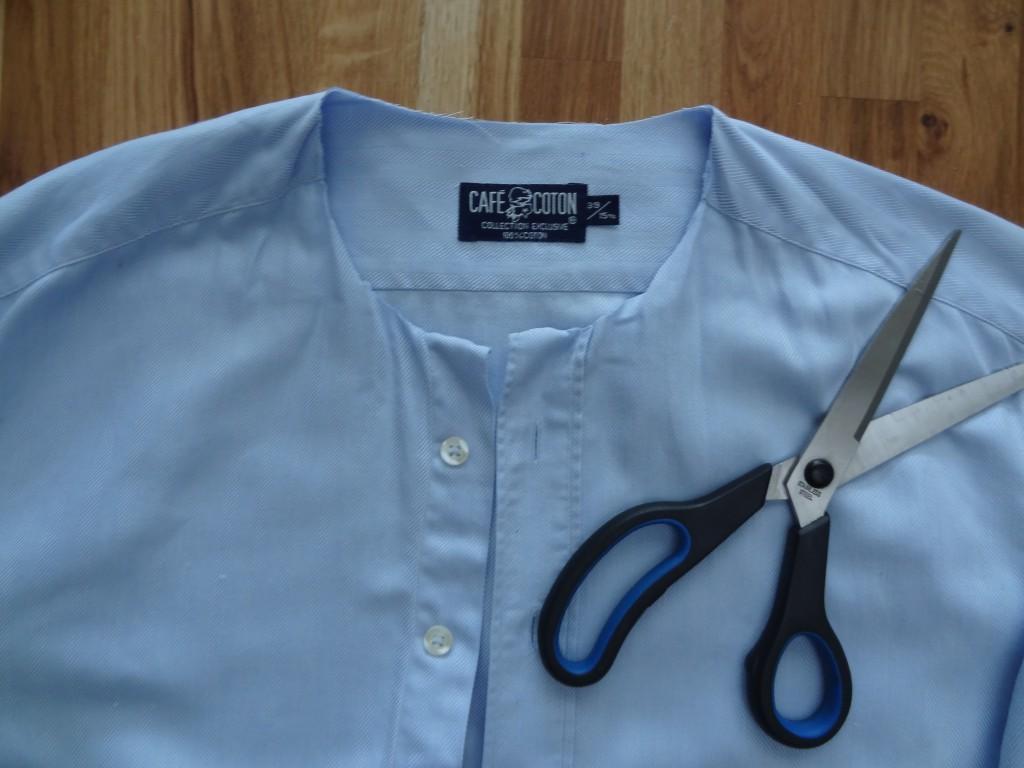 customisation de chemise étape 1