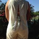 Couture – Un dos-nu à pois et paillettes