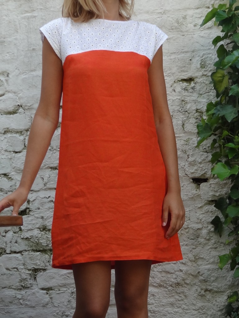 robe de débutante orange (2)