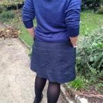 Ma petite jupe d'hiver en jacquard