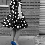 Ma robe Lolita en noir et blanc